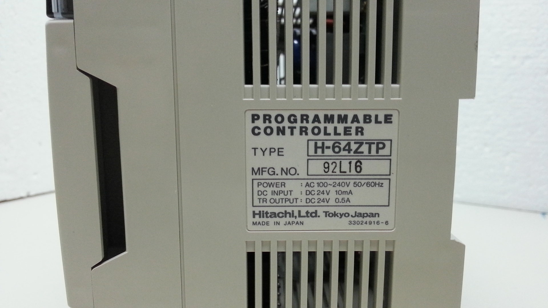 H-64ZTP Hitachi PLC unit.