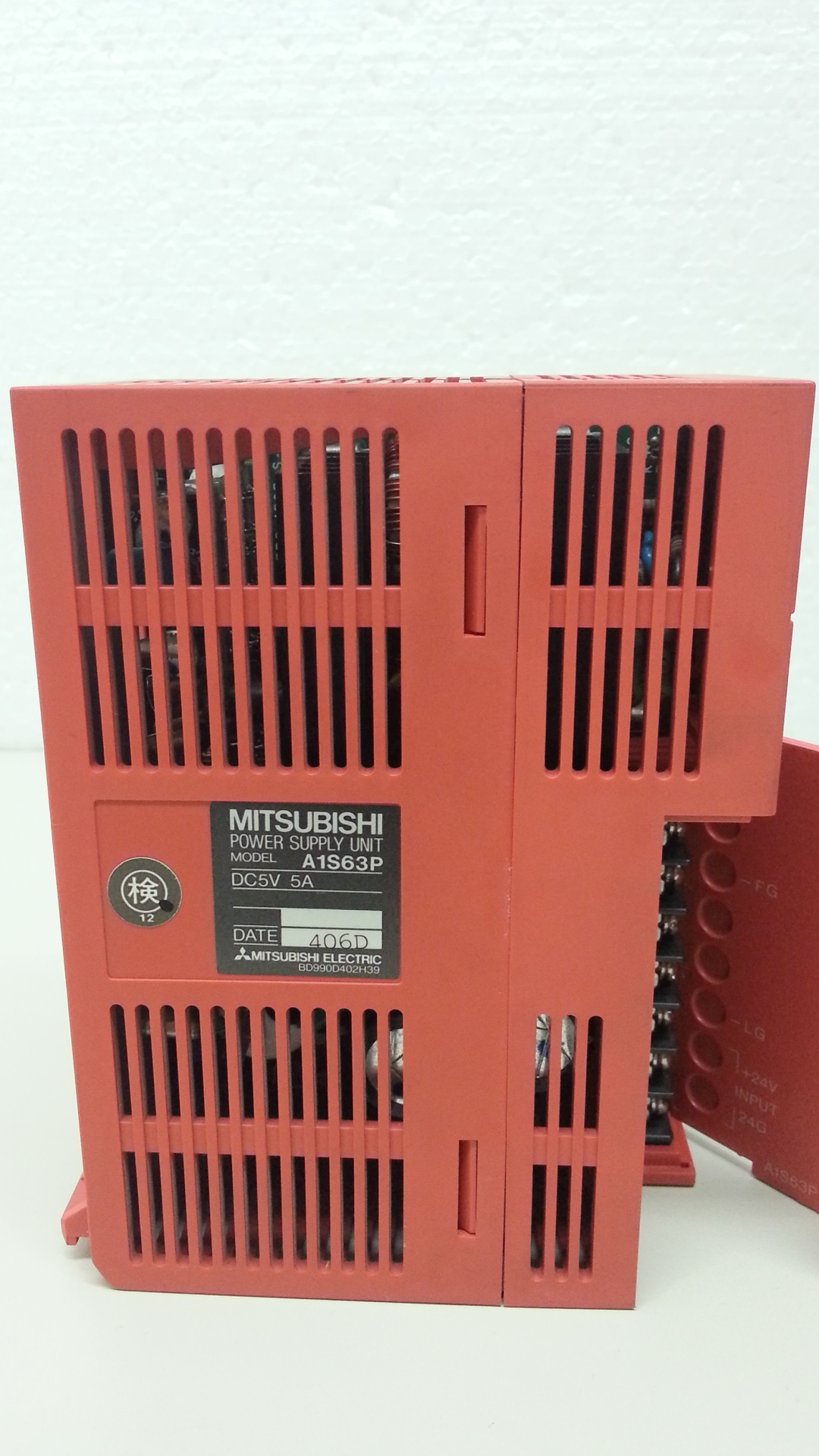 A1S63P Power supply unit 24VDC.