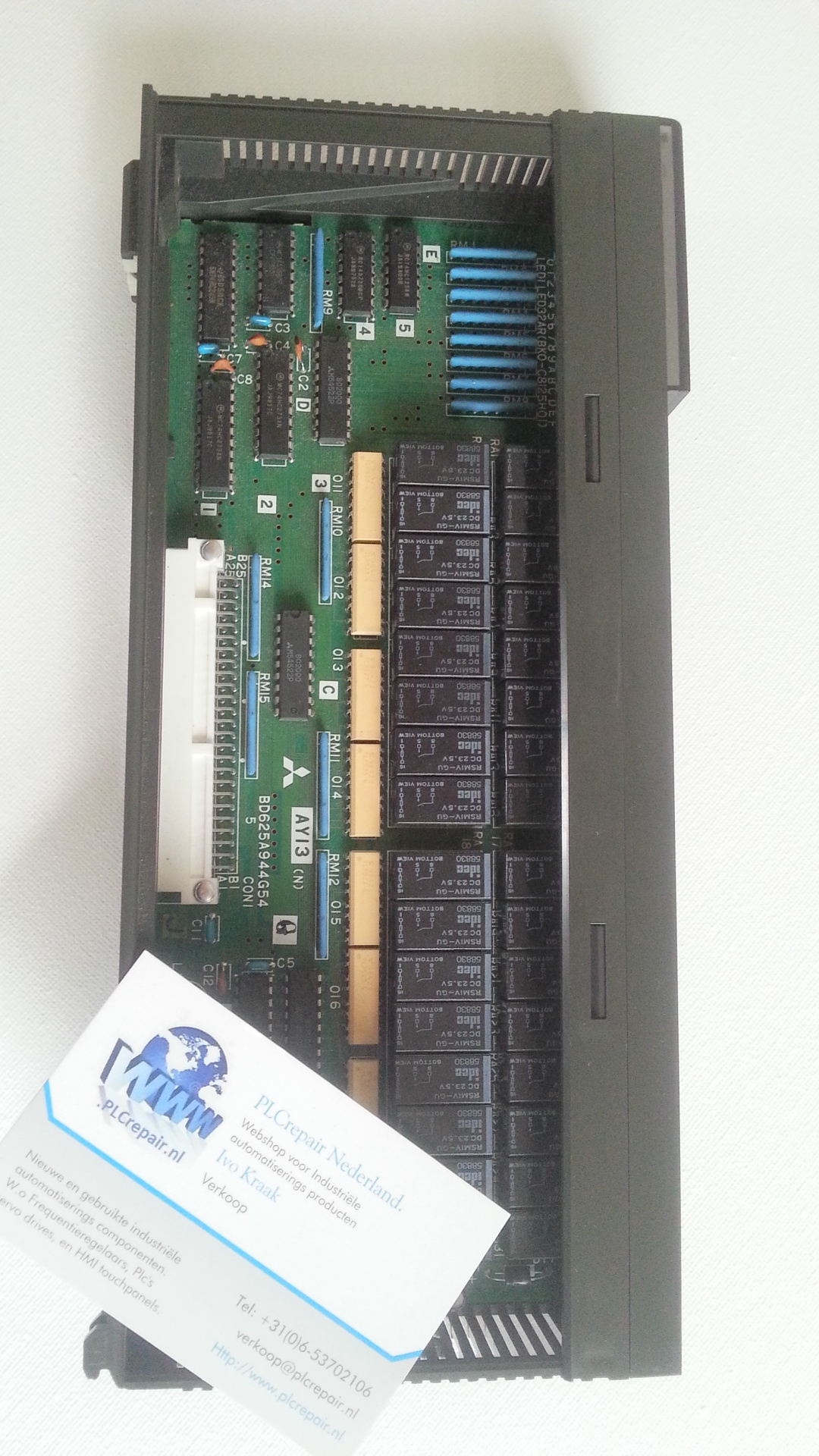 AY13EU Melsec output card used tested and warranty.