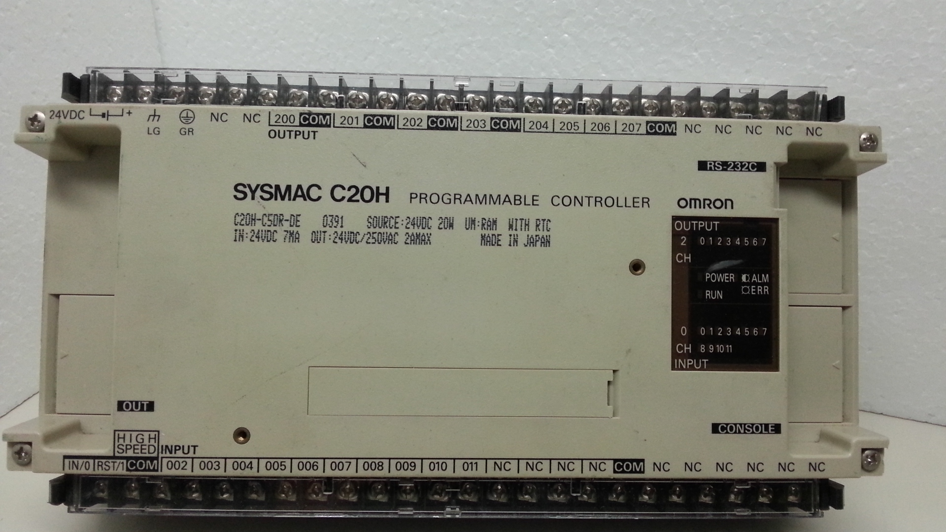 C20H-C50DR Omron sysmac used and tested.