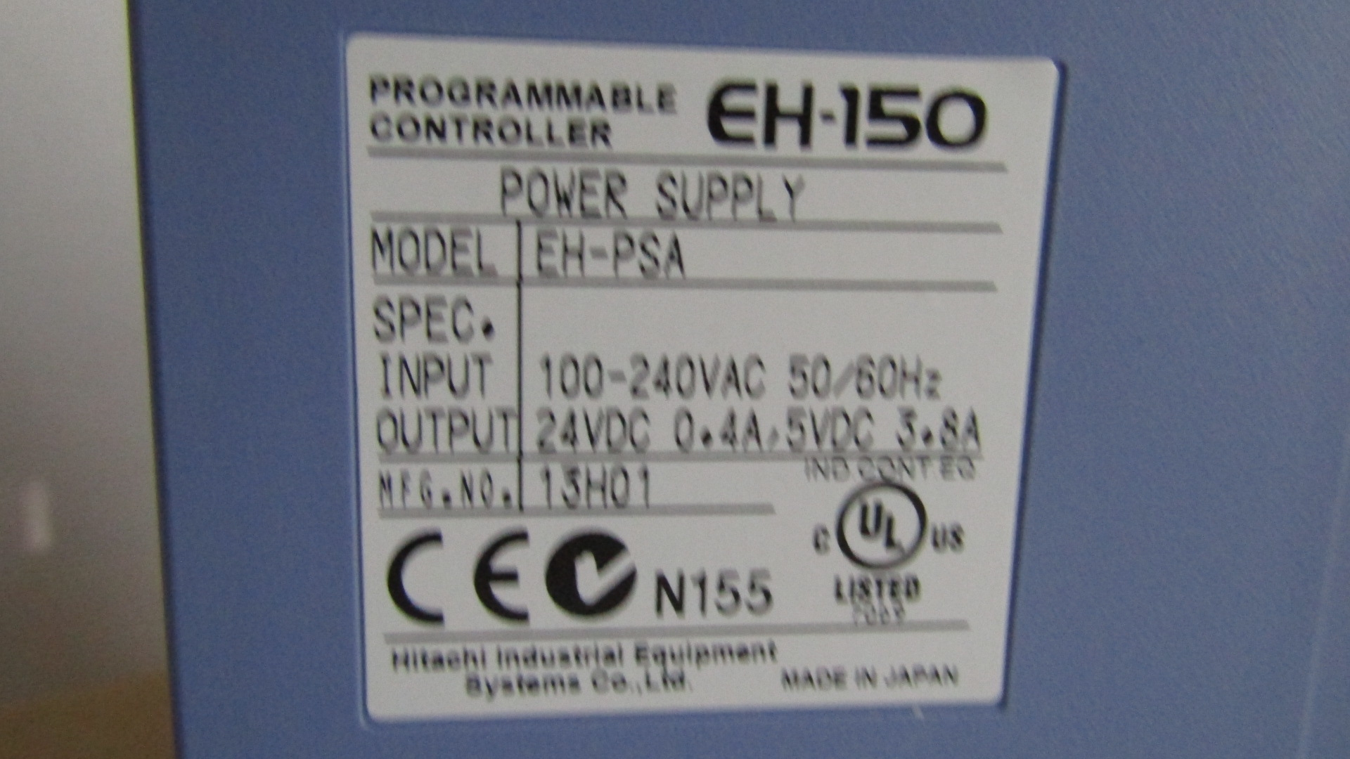 EH-PSA power supply Hitachi EH-150 programmable controller