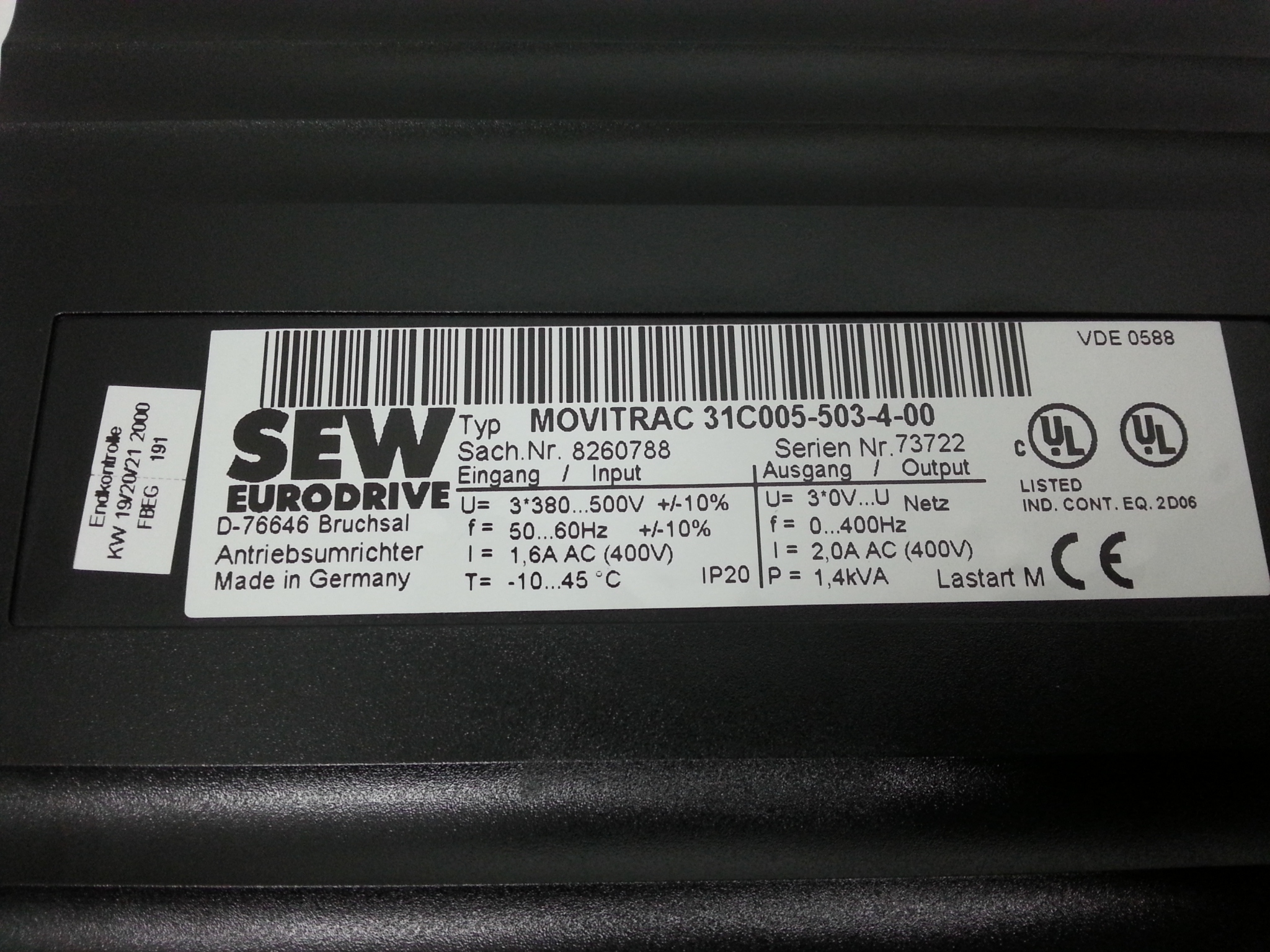 MC31C005-503-4-00 SEW Movitrac 31C
