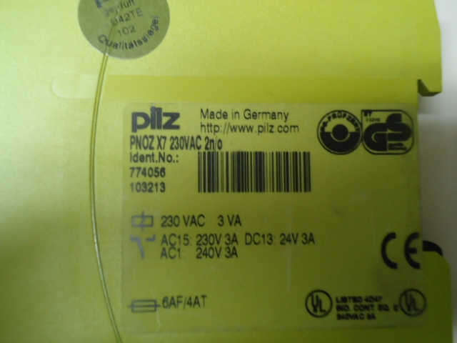 PNOZ X7 230vac Idnr 774056 Pilz safety relay