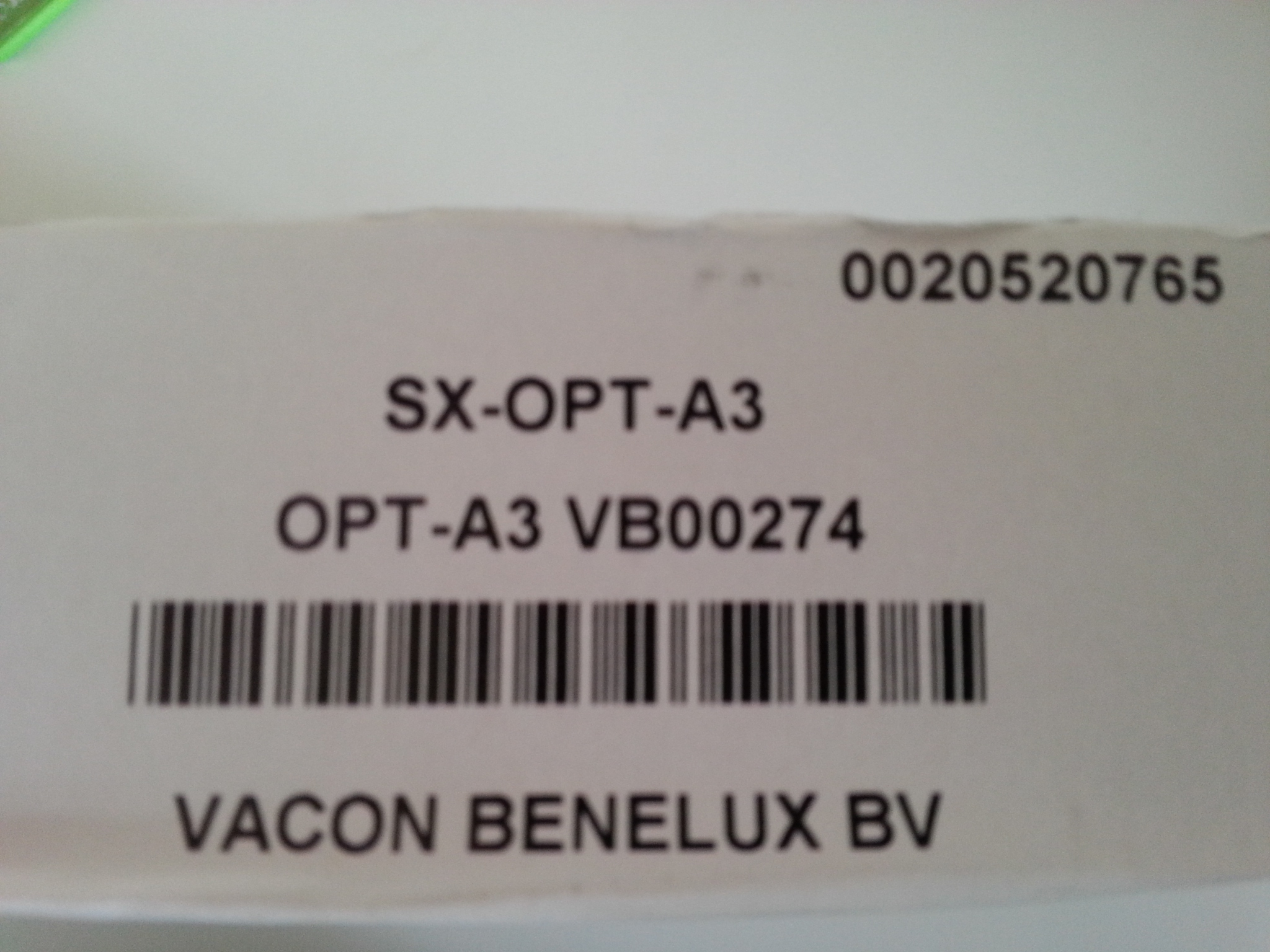 SX-OPT-A3 SX-OPT-A2  vacon SX option print